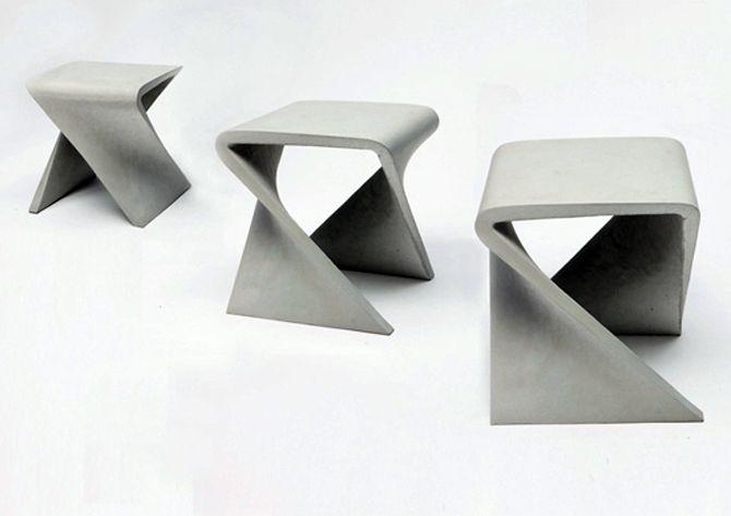 design du beton, sièges en béton, concrete stool, Anna Badur, ©annabadur.de