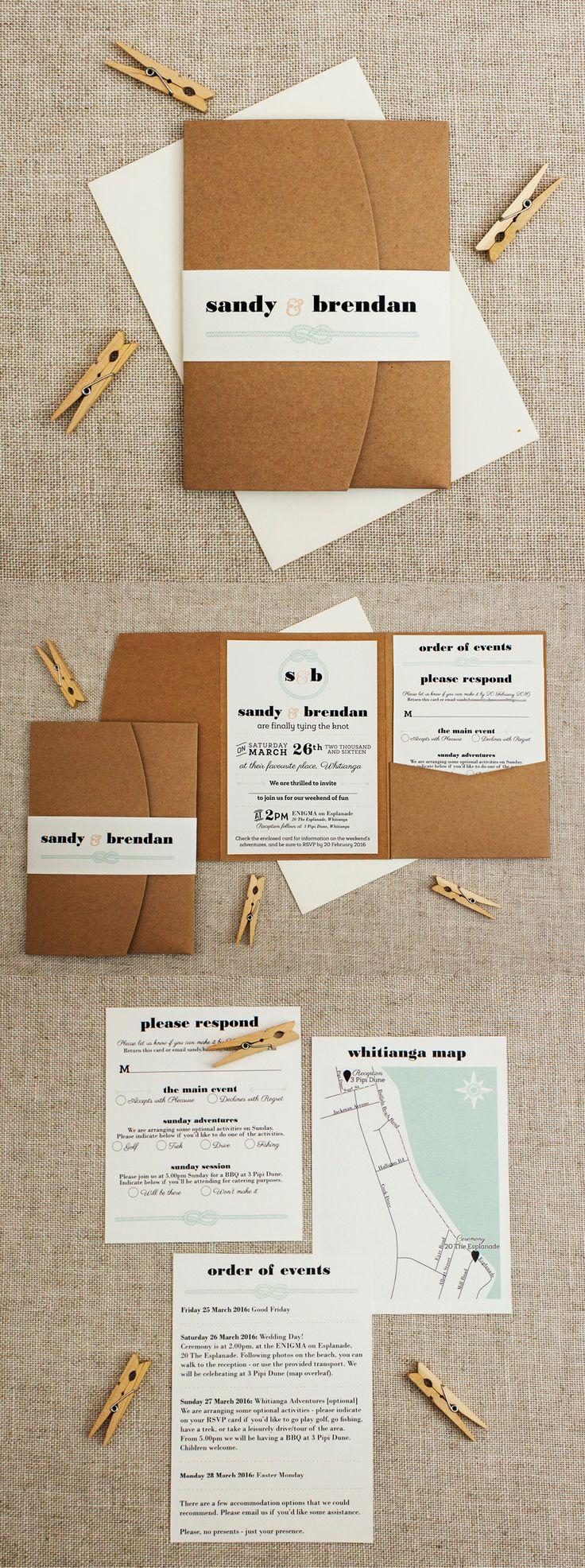 lightly nautical pocketfold wedding invitation   Found for you by www.astrabridal.co.nz  