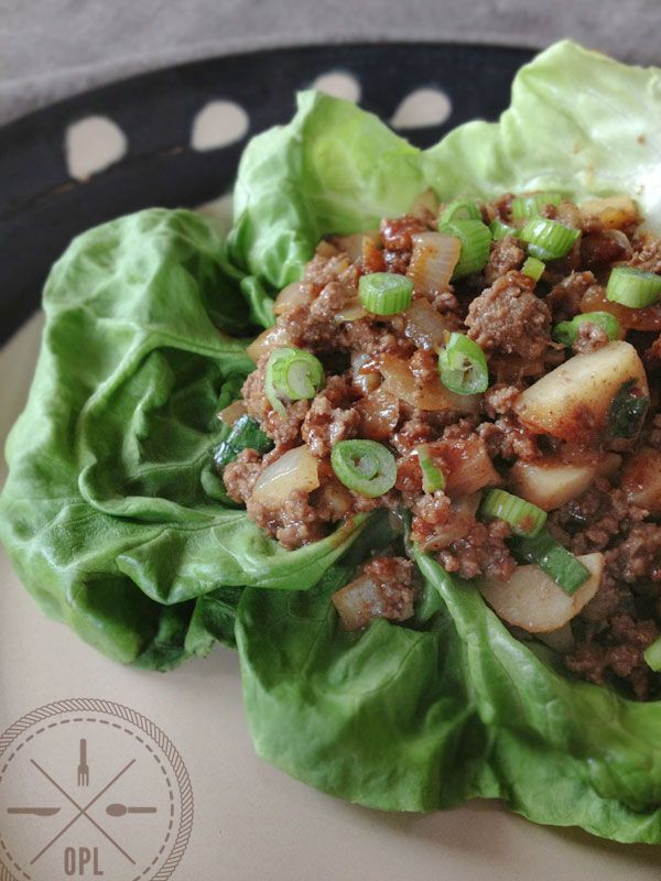 Paleo Lettuce Wraps, just like PF Chang's!