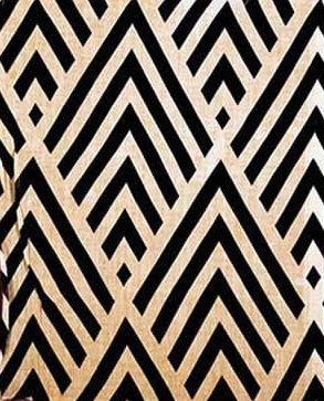 Modified chevron, in 2 different wood types, for wall in room old waterbed platform was?