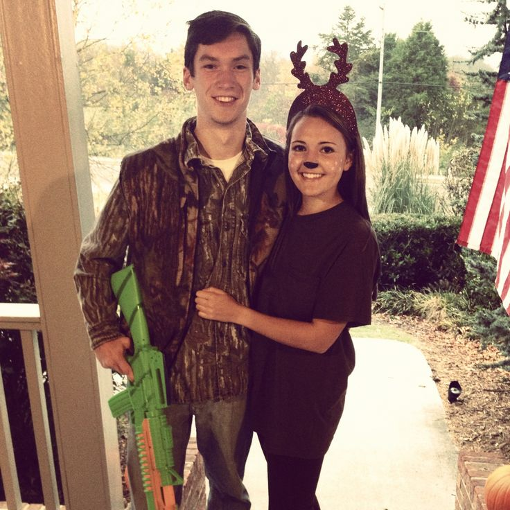 Hunter and deer couple Halloween costume, the hunt is over