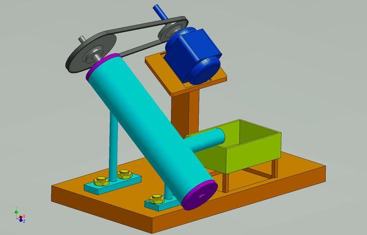 tornillo de Arquímedes - SolidWorks - modelo CAD 3D - GrabCAD