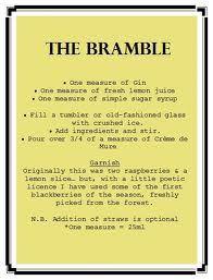 bramble cocktail - Google Search