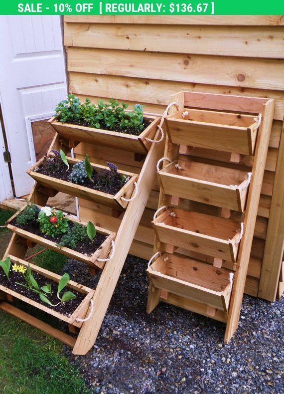 Ends Thursday New 24 vertical gardening raised por RopedOnCedar