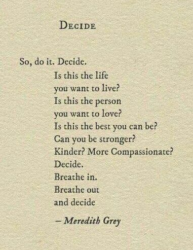 Decide like an adult and be responsible of it, dont put blame on others.