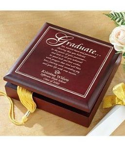 Personalized Graduation Wood Keepsake Box - Graduation Gift