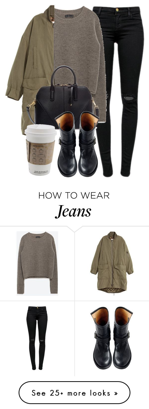 """Untitled #5030"" by laurenmboot on Polyvore featuring J Brand, Zara, H&M and Fiorentini + Baker"