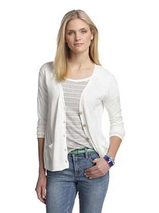 76% OFF Cotton Addiction Women's Split Back Cardigan (White)