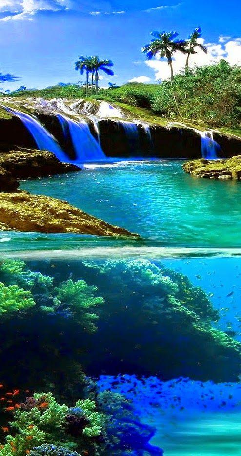 Split View Waterfall In Hawaii Usavacation Destinationsdream Vacationsusa Travelbeautiful