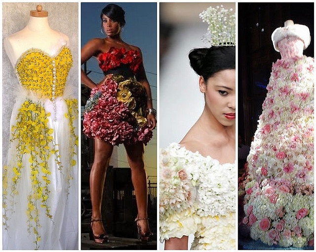 Wedding Dresses Made Of Flowers By Soo12 Via Flickr