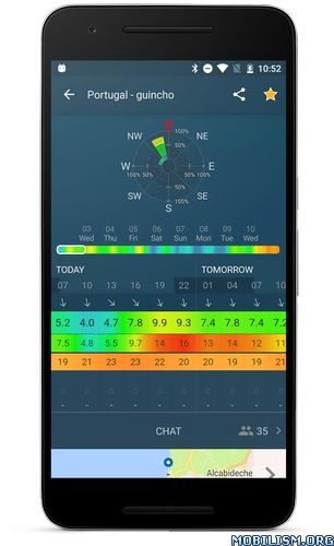 WINDY – NOAA wind forecast v3.4.4 [Pro]Requirements: 4.1+Overview: Windy is a handy wind forecast app for extreme sports based on wind and other outdoor activities (SUP, fishing, bike, RC pilotage).  Now we decided to build micro community on...