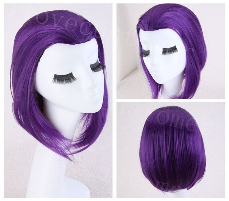 14'' Medium Raven From Teen Titans Cosplay Fancy Party PURPLE synthenic Wig Wigs #Unbranded