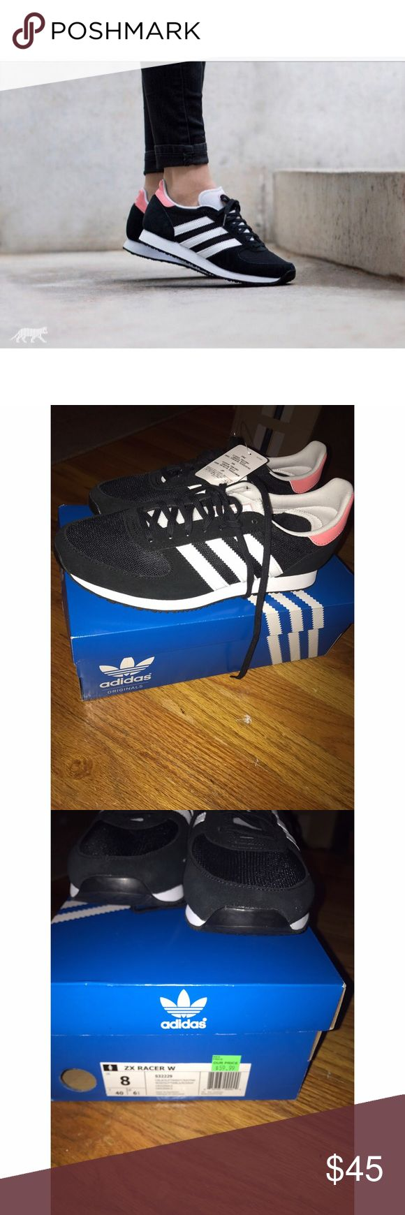 Adidas zx racer sneakers Adorable sneakers, size 8, fits true to size. Never been worn! Adidas Shoes Sneakers