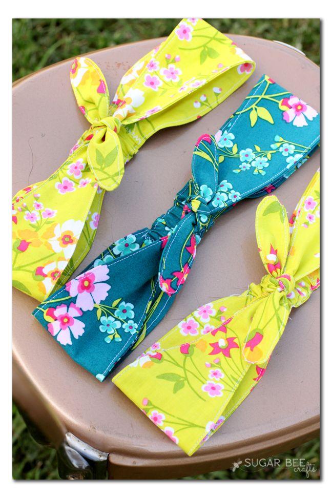 Fabric Knotted Headband Sewing Headbands Diy Headband