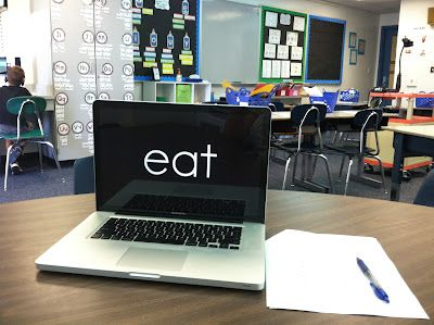 Less stressful sight word assessment ~  Words are presented one at a time on a PowerPoint so students don't get overwhelmed by the long list.  (Love this free idea!)
