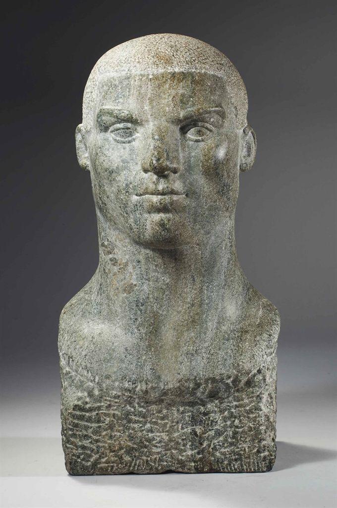 Charlotte Van Pallandt (Netherlands 1898 1987), Acrobaat, Green Marble. Sold
