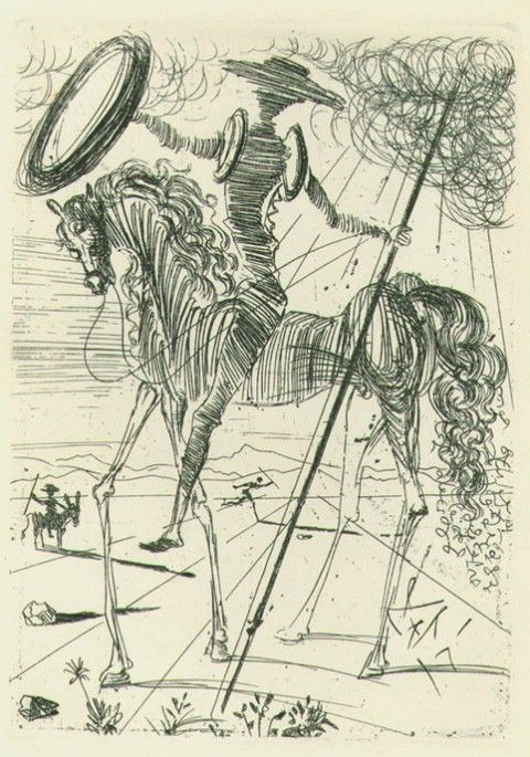 Stunning Vintage Illustrations of Don Quixote by Spanish Graphic Design Pioneer Roc Riera Rojas | Brain Pickings