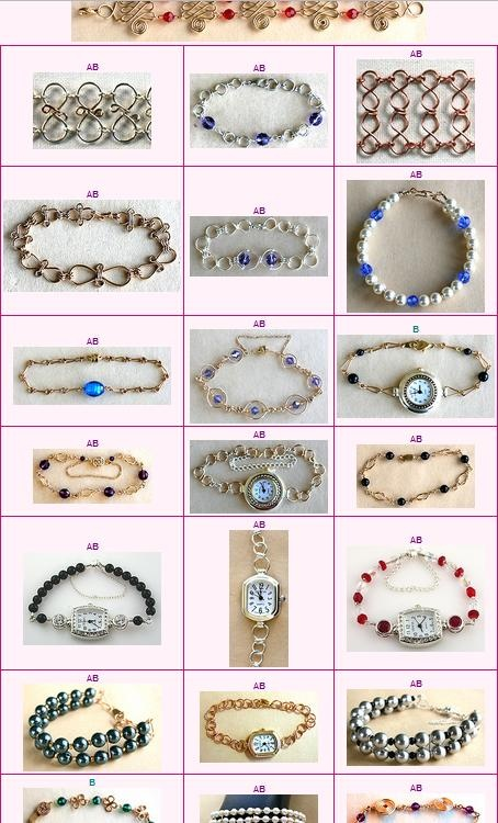 Lots of lovely free tutorials.: Wigs Jig, Bracelets Tutorials, Jewelry Tutorials, Free Tutorials, Free Jewelry, Wire Tutorials, Beads Jewelry, Wire Bracelets, Tutorials Bracelets