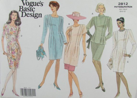 Vintage 1980s Vogue 2812 Tunic Top Dress by SewingPatternsPast, $10.00