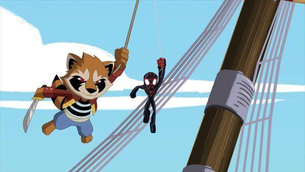 今夜放送!「ガーディアンズ・オブ・ギャラクシー」の天才アライグマ・ロケットが『アルティメット・スパイダーマン』に登場