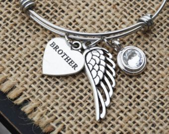 Angel Brother Loss of Brother Death of by HandmadeByRememberMe