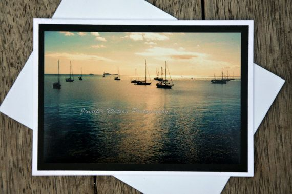 Aussie Greeting Gift Card & Print. Airlie Beach Sunset by JenWatsonPhotography, $5.00