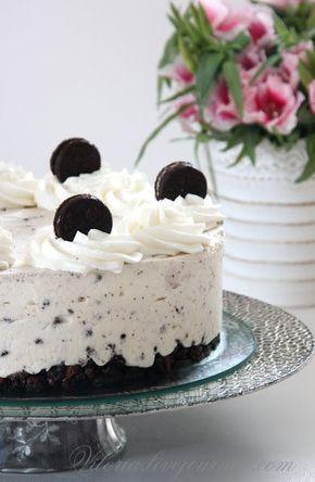 Торт творожный с печеньем Орео