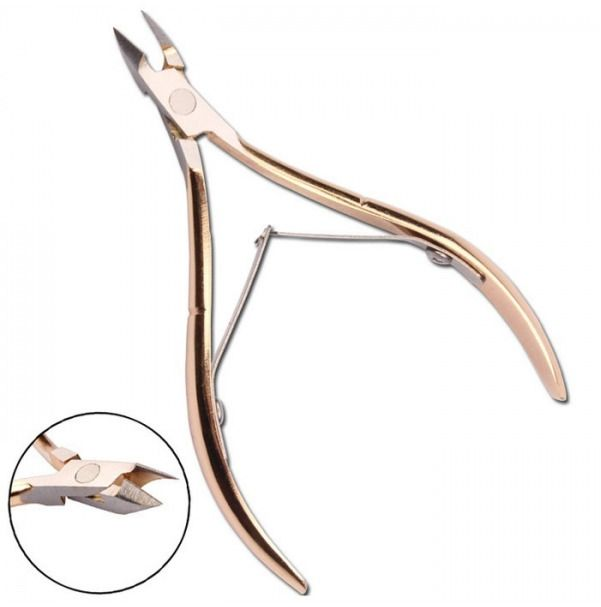 Stainless Steel Double Spring Toe Cuticle Dead Skin Nipper Trimmer Cutter Manicu #Unbranded