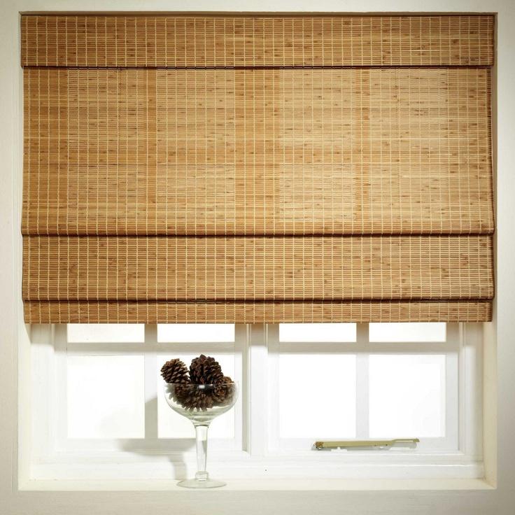 swish oak 39 sunlover 39 bamboo roman blind at. Black Bedroom Furniture Sets. Home Design Ideas