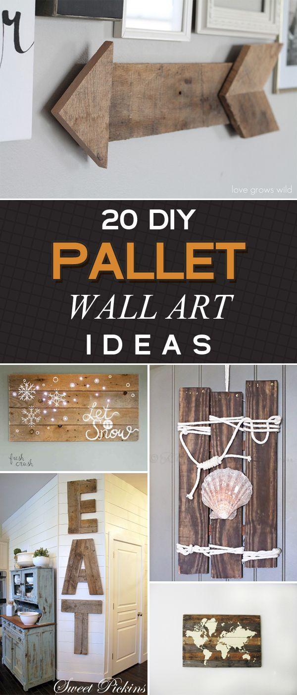 20 Amazing DIY Pallet Wall Art Ideas