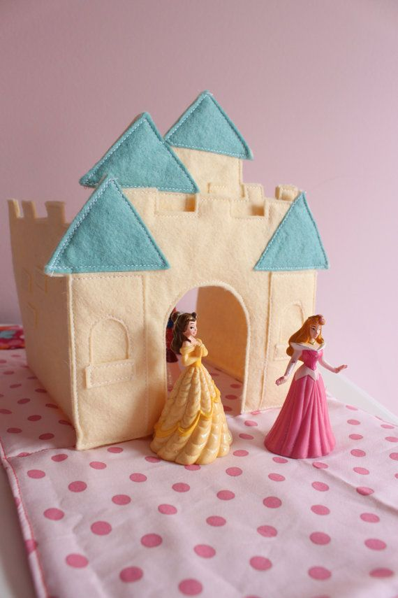 Pattern:  Castle Folds into Purse with pockets to store princesses