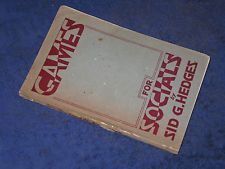 GAMES FOR SOCIALS Sid G. Hedges PB 1943 Communal entertainment Sunday School fun