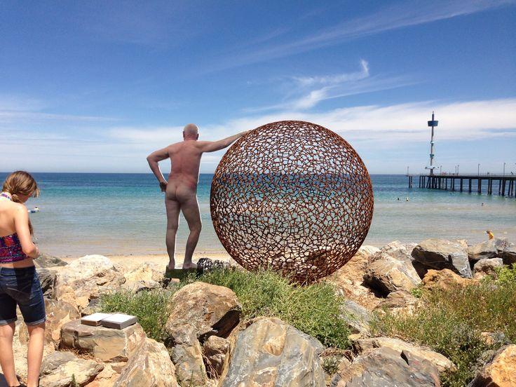 sculptures at Glenelg Beach, Adelaide