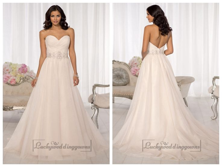 Simple Criss-cross Sweetheart A-line Wedding Dresses http://www.ckdress.com/simple-crisscross-sweetheart-aline-wedding-  dresses-p-2003.html  #wedding #dresses #dress #Luckyweddinggown #Luckywedding #wed #clothing   #gown #weddingdresses #dressesonline #dressonline #bridaldresses