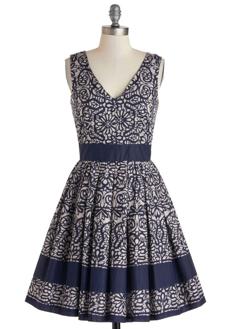 Calligraphy of the Styled Dress | Mod Retro Vintage Dresses | ModCloth.com