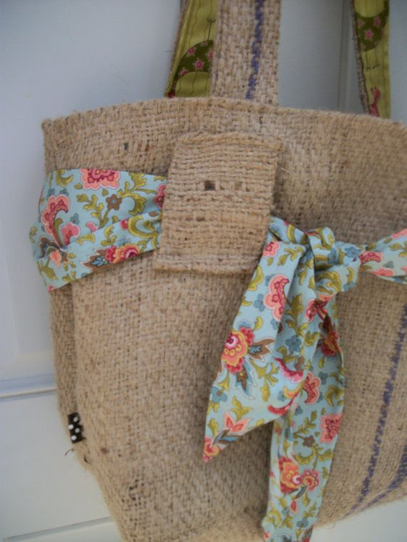 34 best images about burlap purses and crafts on pinterest for Burlap bag craft ideas