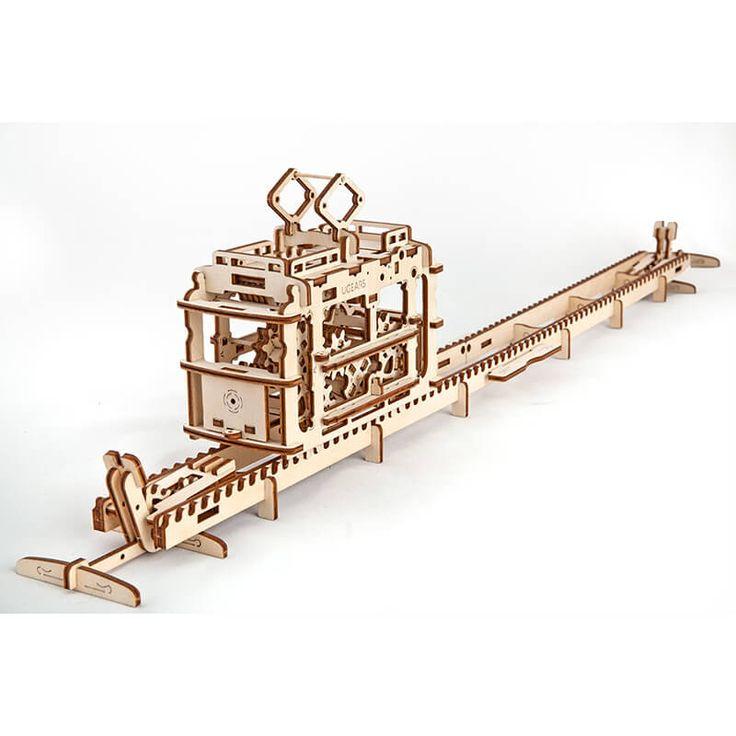 UGEARS - Mechanisch houten bouwpakket bouwpakket tram
