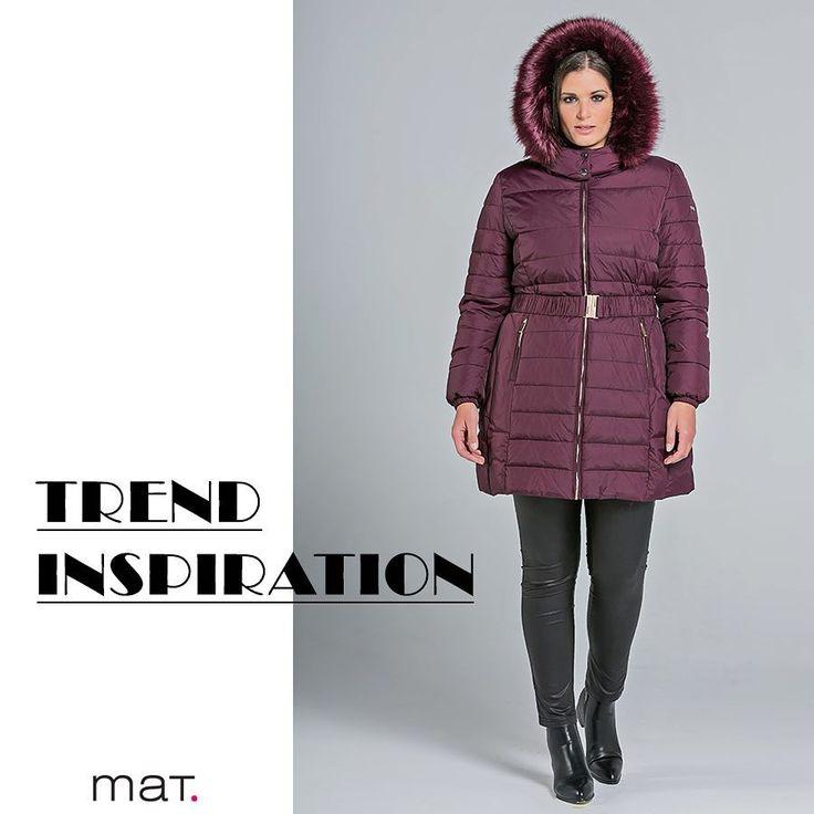 Just singin' in the rain! 🌧 Το απόλυτο μπορντό συναντάει το best selling μπουφάν του χειμώνα και... βάλε την κουκούλα σου. Quilted μπουφάν με faux-fur κουκούλα ➡️ code: 683.4039 #matfashion #jacketseason #fw1718 #realsize #collection #ootd #rainyday #fashion #inspiration #plussizefashion #psblogger