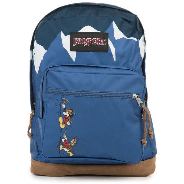 Jansport Backpack Jansport x Disney Alpine Take a Hike Right Pack Blue ($100) ❤ liked on Polyvore featuring bags, backpacks, backpack bags, blue rucksack, rucksack bags, blue bag and knapsack bag
