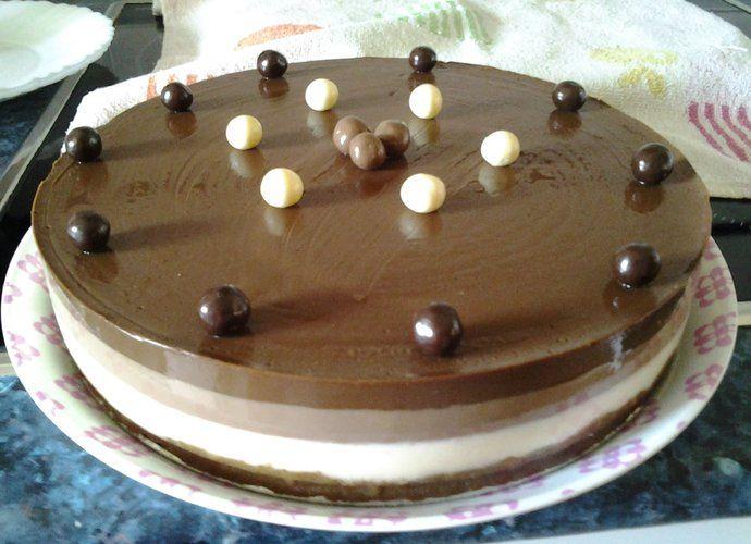 Tarta 3 chocolates para #Mycook http://www.mycook.es/cocina/receta/tarta-3-chocolates