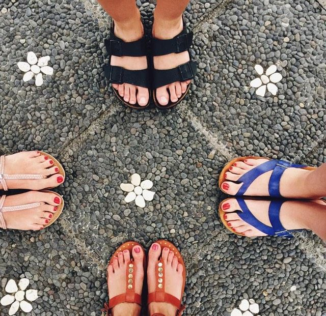 Sandals are truly a girl's best friend.  #sandals #spring #summer #friends #shoes #flatshoes #trends #trend #Birkenstocks