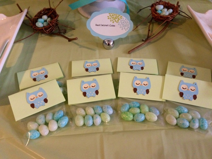 owl jelly bean egg favors baby shower bridal cricut owl diy