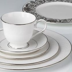 Lenox Artemis Place Setting is a delicate raised floral design on fine white bone china that gives Lenox Artemis dinnerware elegance reserved for extra fine ... & 19 best Lenox Fine Bone China Dinner Ware images on Pinterest ...