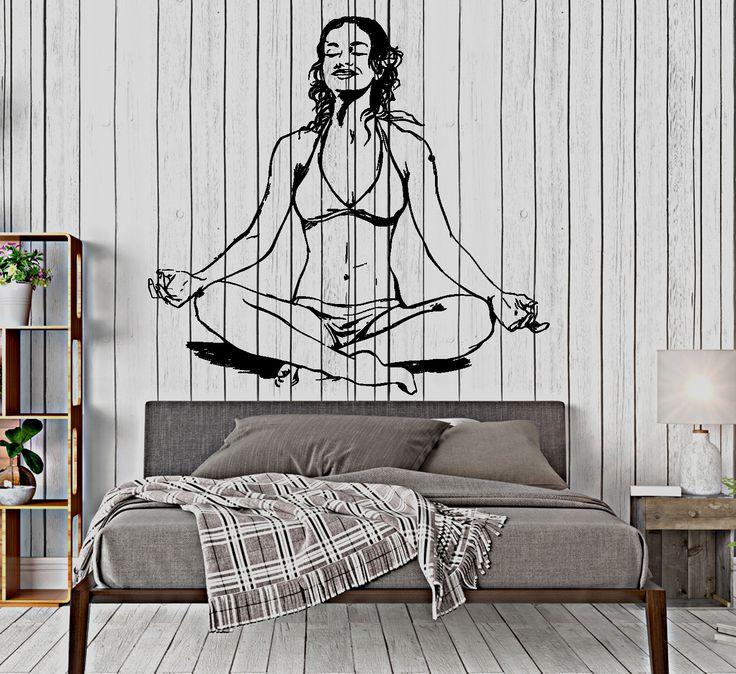 Wall Vinyl Decal Yoga Girl Om Zen Meditation Buddhism Home Interior z4056