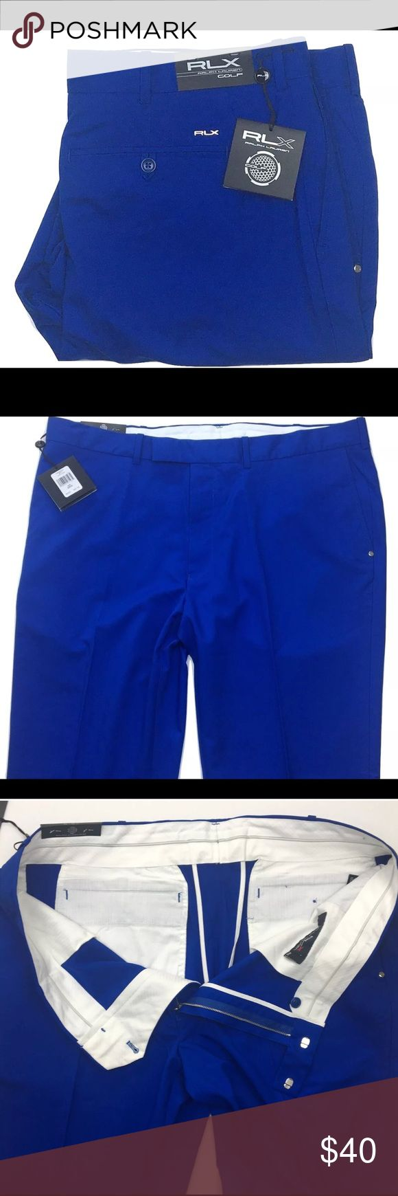 """NWT Ralph Lauren RLX Golf pants A pair of new with tags Ralph Lauren RLX Golf pants. Blue color and size 40Wx32L.  Dimensions:  Length:- 44"""" Inseam:- 31"""" Waist:- 20.5 (41"""" in total - 40"""" on tag)  Thanks for viewing! Ralph Lauren Pants"""