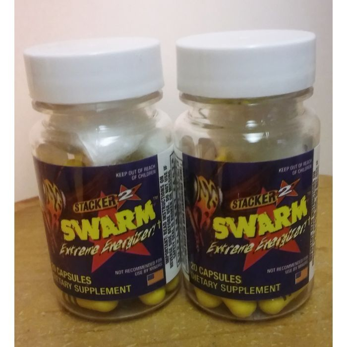 Stacker Swarm Dietary Supplement 20 Cnt. Bottles (Ephedra Free)-Lot of 2