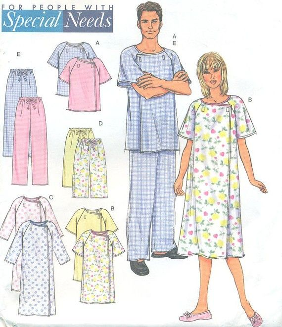 Butterick 4246 Size XSMED Unisex Hospital Gown by PatternPeddler