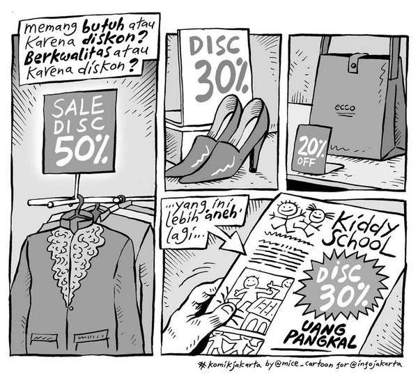 Mice Cartoon, Komik Jakarta: Karena Diskon?