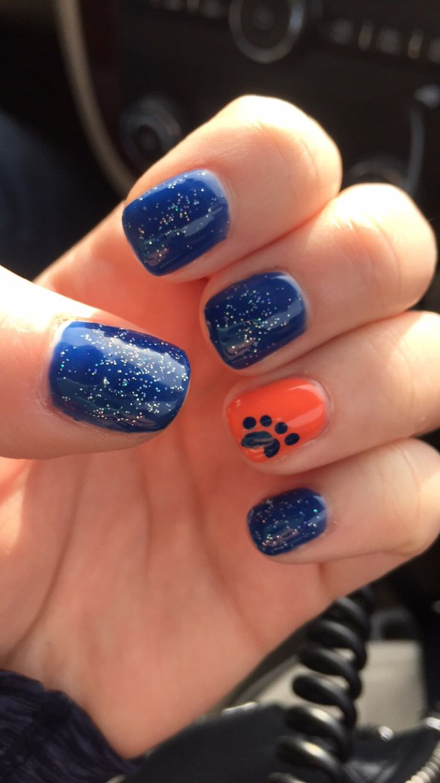 Detroit Tigers Nails | toes/finger nails | Pinterest | Tiger nails ...