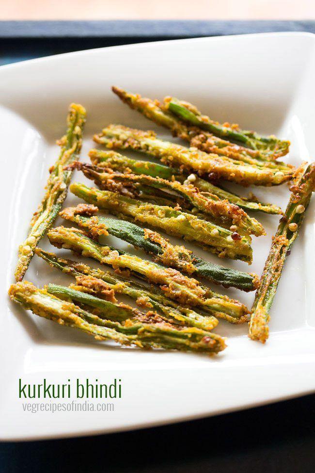 Kurkuri Bhindi Recipe - Crispy okra fry which makes for a nice side dish with dal-rice or roti-gravy combo.  #Bhindi #okra